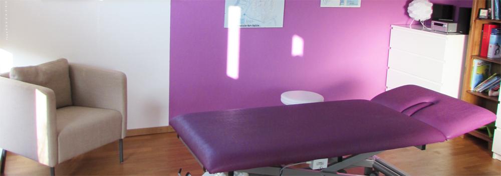 Der Behandlungsraum bei Osteopathie Steffen ist speziell für Kinder konzipiert